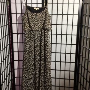 Staring at Stars Maxi Dress-Open Back Size Large
